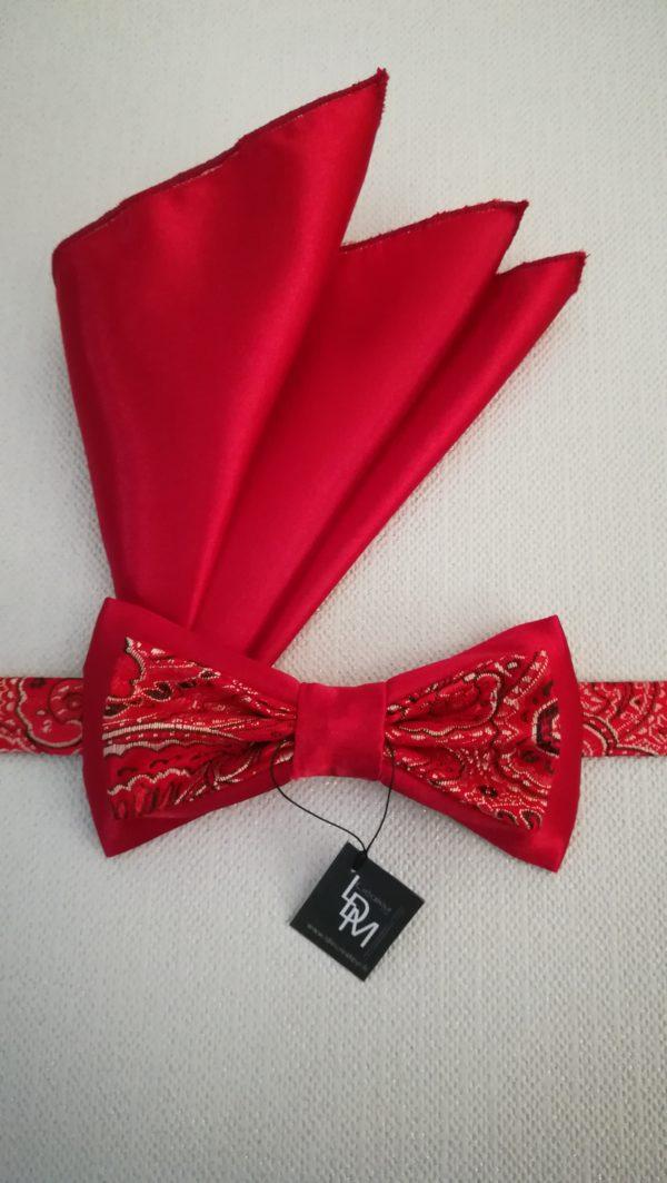 noeud-papillon-rouge-Olivet-satin-brocart-mariage-soiree-smoking-200x366-LDM-Createur-fr-