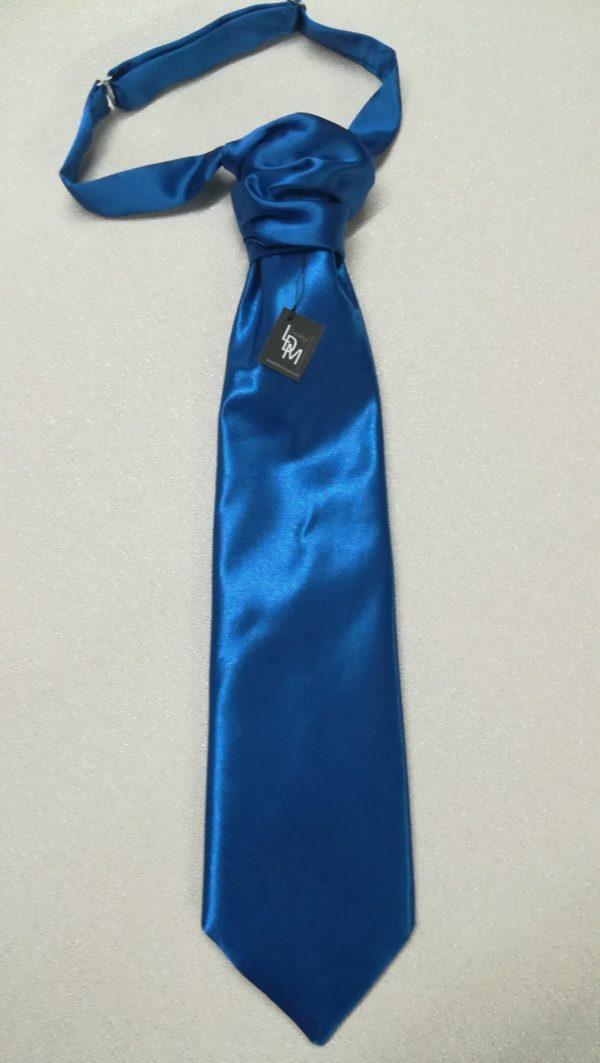 cravate-de mariage-bleu-ceremonie-homme-millau-satin-300x107-LDM-Createur-fr
