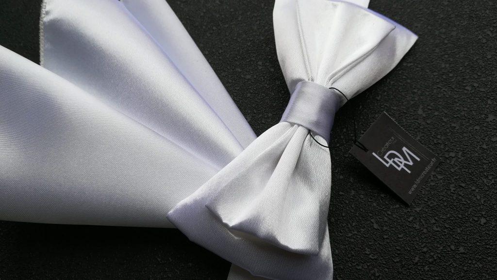 Moscou-noeud-papillon-blanc-pochette-mariage-soirée-concert-cérémonie-201x211-LDM-Créateur-fr