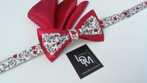 Nœud-papillon-liberty-rouge-blanc-gris-mariage-Sospel-200x353-LDM-Createur-fr