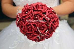Rose-rouge-bouquet-mariage-elegant-magenta-cerise-www-ldmcreateur