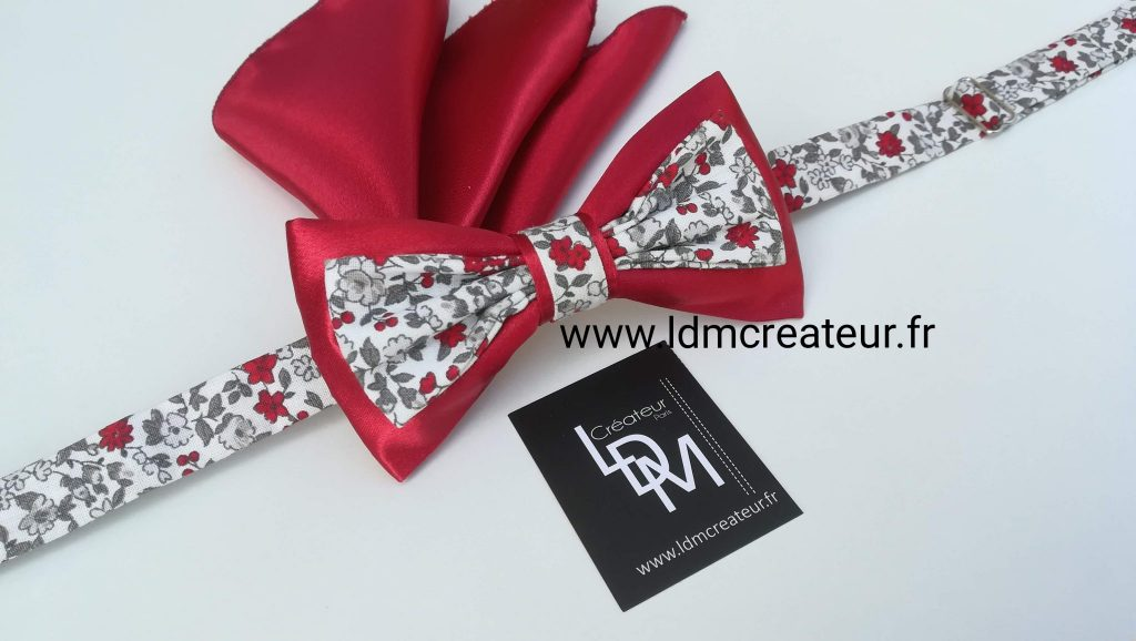 Noeud-papillon-rouge-liberty-mariage-ceremonie-sospel-ldmcreateur-fr