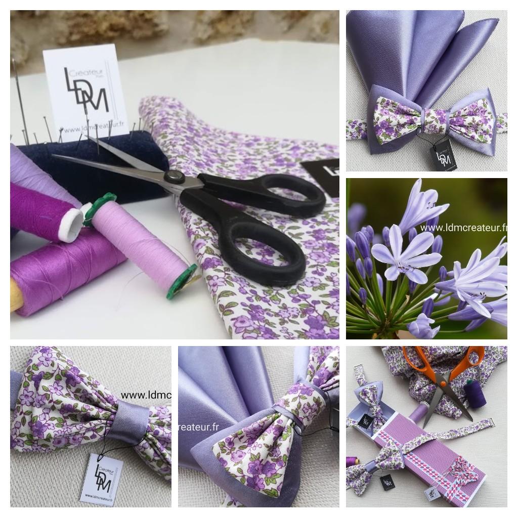 Noeud-papillon-parme-lilas-liberty-mauve-mariage-ceremonie-soiree-www-LDM-Createur-fr