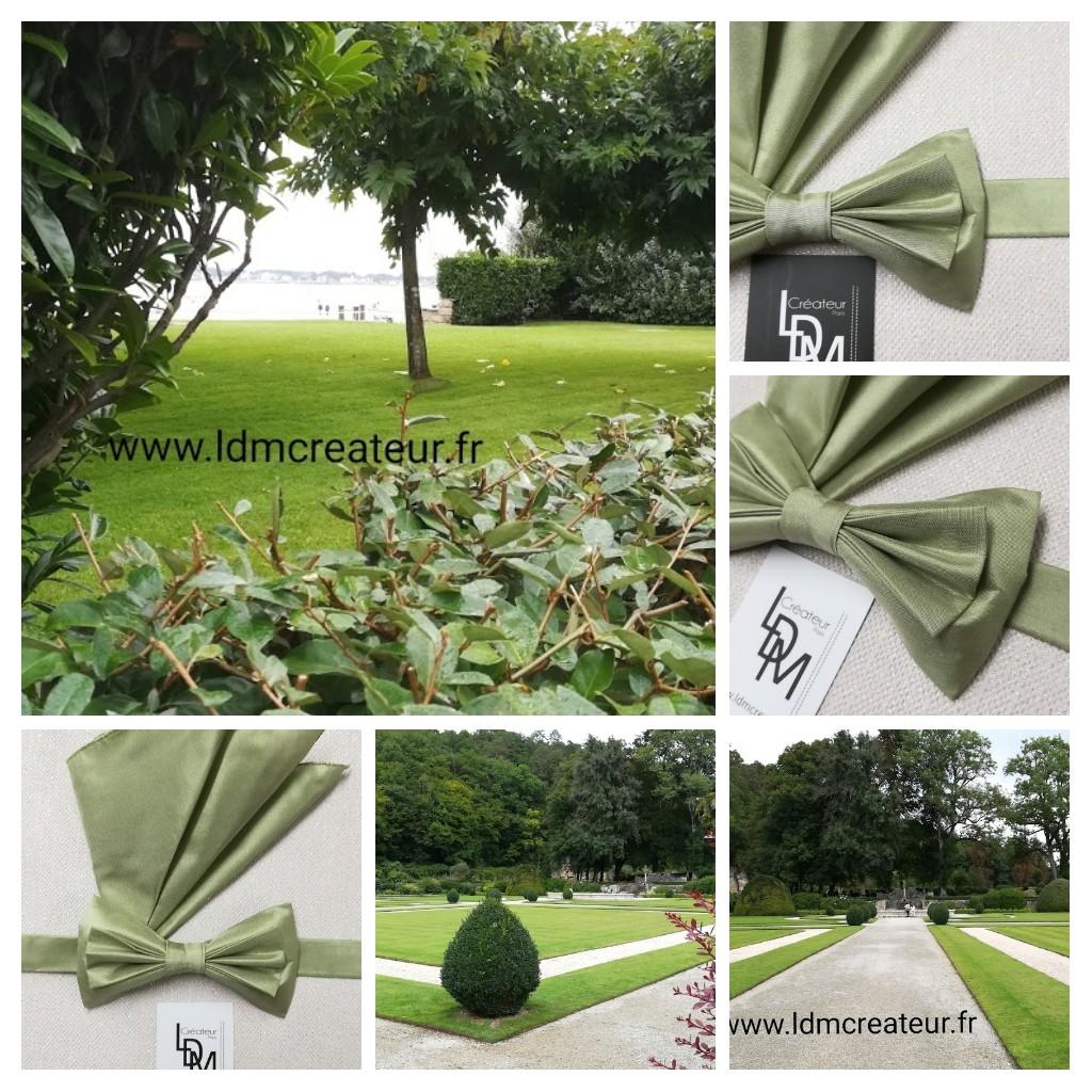 noeud-papillon-vert-soie-nature-champetre-mariage-ceremonie-soiree-www-LDM-Createur-fr