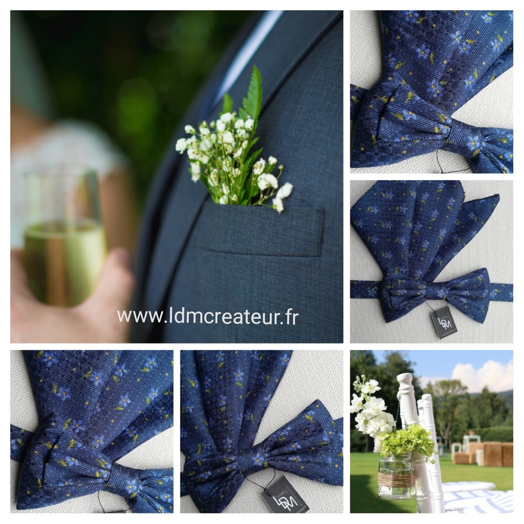 Noeud-papillon-bleu-soie-mariage-soiree-Milan-www-ldmcreateur-fr
