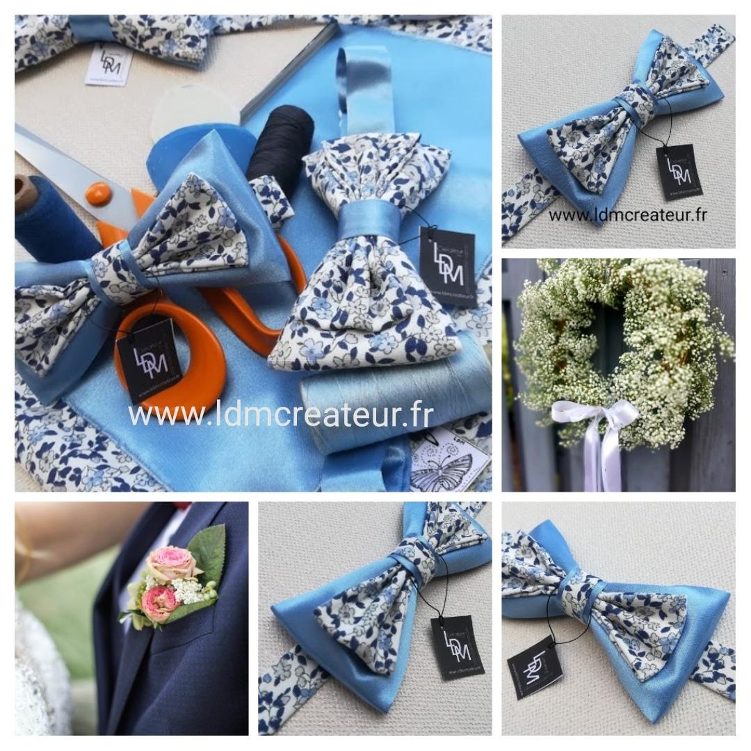 Noeud-papillon-liberty-bleu-ciel-blanc-mariage-soiree-Monflanquin-www-ldmcreateur-fr
