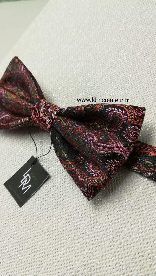 Noeud-papillon-rose-Brive-createur-creation-noir-www-ldmcreateur-fr