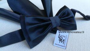 Noeud-papillon-bleu-marine-ceremonie-pochette-mariage-marie-Vienne-www-ldmcreateur-fr
