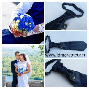 cravate-mariage-bleu-marine-pre-noue-marie-elegance-www-ldmcreateur-fr