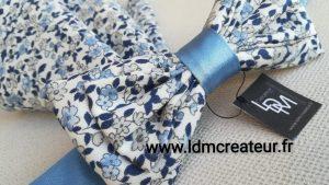 Noeud-papillon-champetre-bleu-mariage-Barfleur-ceremonie-www-ldmcreateur-fr