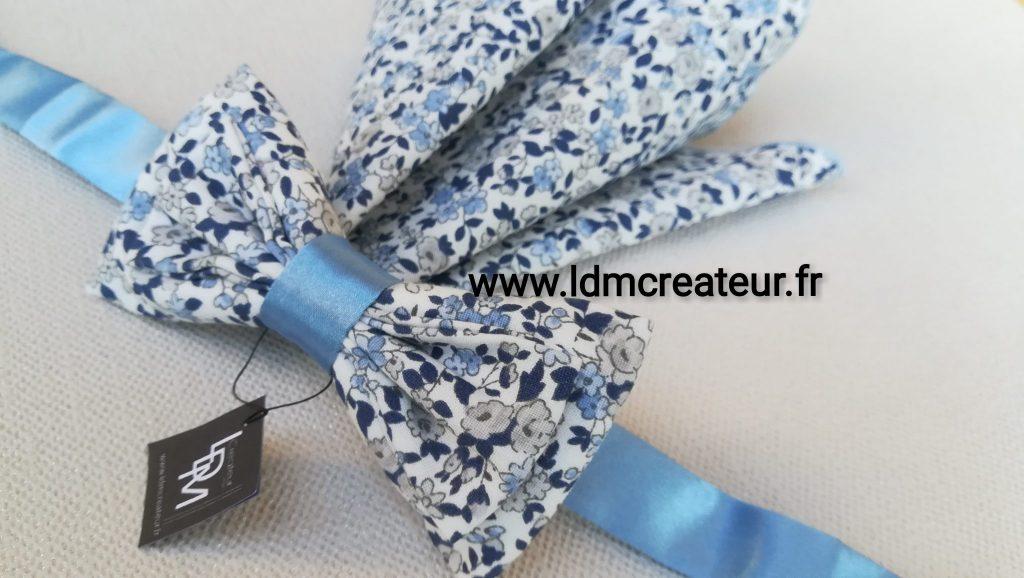 Noeud-papillon-champetre-mariage-bleu-ciel-Barfleur-ceremonie-www-ldmcreateur-fr