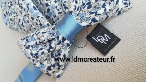 Noeud-papillon-liberty-bleu-ciel-mariage-elegance-Barfleur-ceremonie-www-ldmcreateur-fr