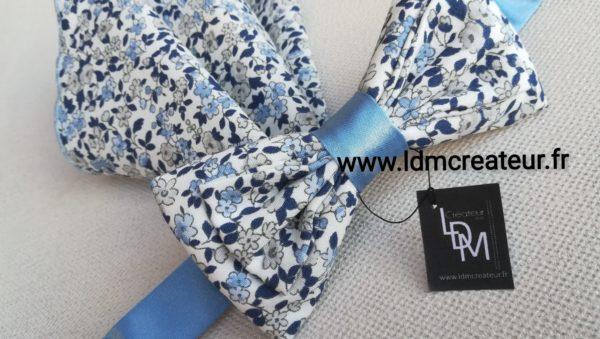 Papillon-liberty-marie-bleu-ciel-mariage-pochette-champetre-Barfleur-ceremonie-www-ldmcreateur-fr