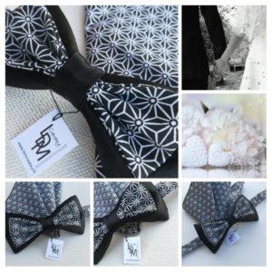 Noeud-papillon-noir-blanc-Dieppe-mariage-romantique-www-ldmcreateur-fr