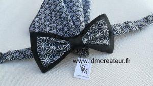 Noeud-papillon-noir-blanc-creation-original-Dieppe-www-ldmcreateur-fr