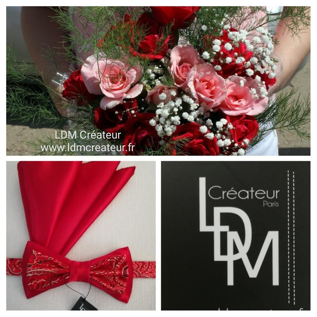 Noeud-papillon-rouge-mariage-élégance-chic-champêtre-Olivet-ldmcreateur