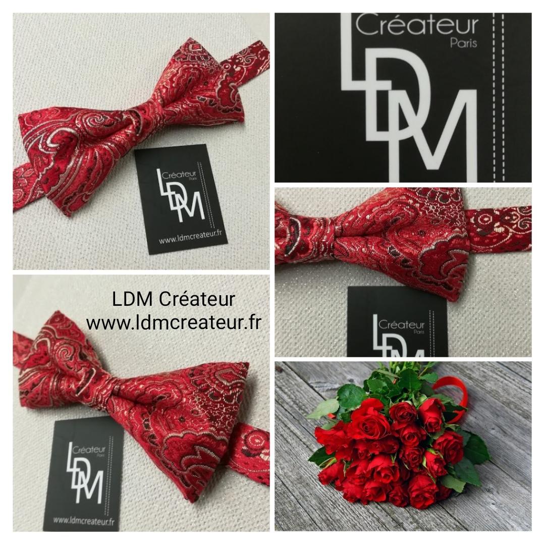Noeud-papillon-rouge-soirée-mariage-Loiret-www.ldmcreateur.fr