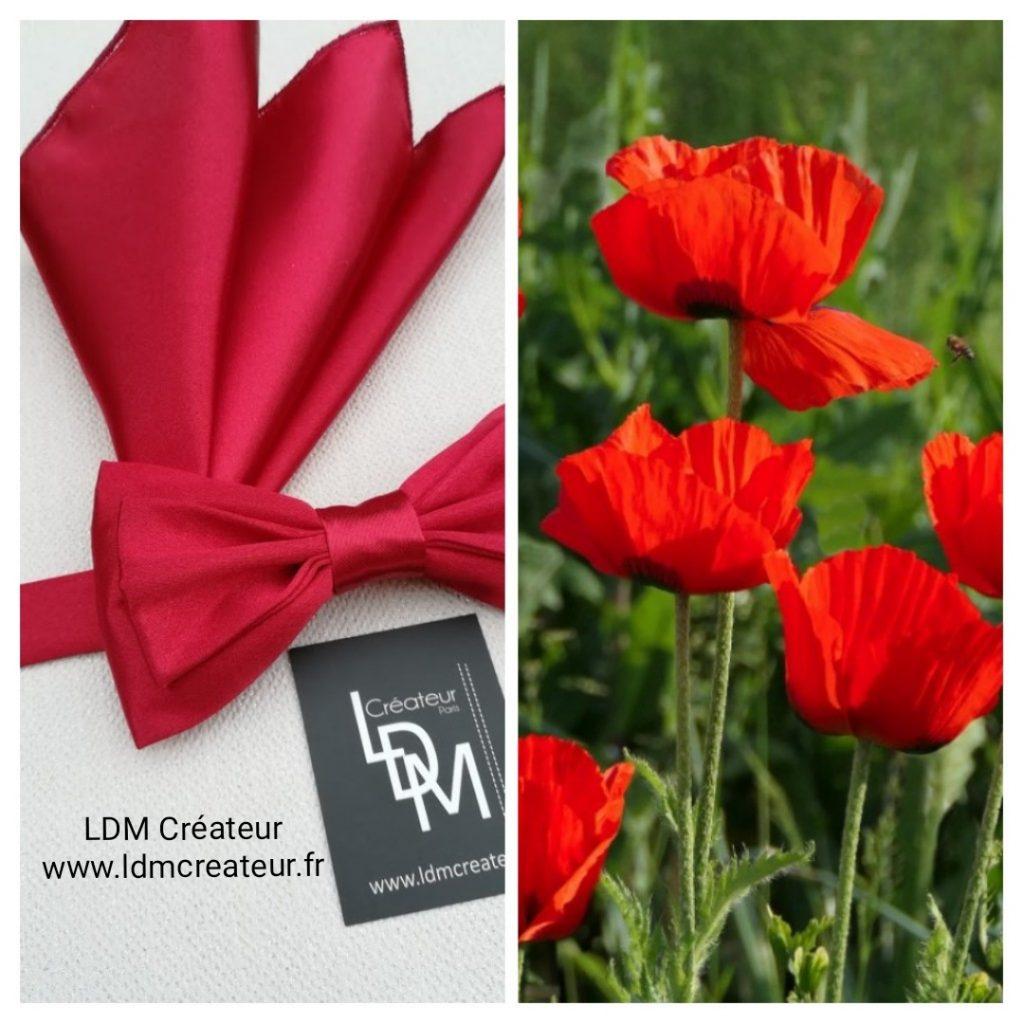 nœud-papillon-rouge-mariage-cérémonie-soirée-marié-ldmcreateur-fr