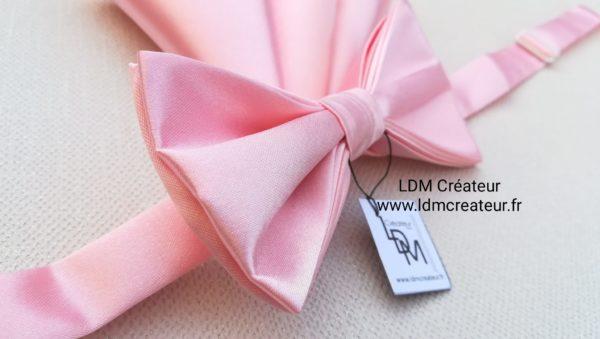 Noeud-papillon-rose-élégance-mariage-ceremonie-Blagnac-ldmcreateur