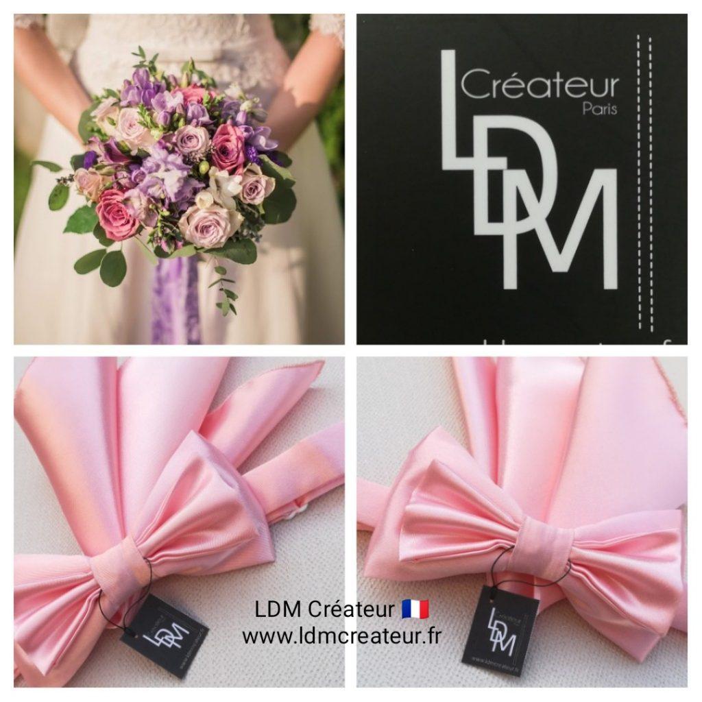 Noeud-papillon-rose-mariage-ceremonie-ldmcreateur