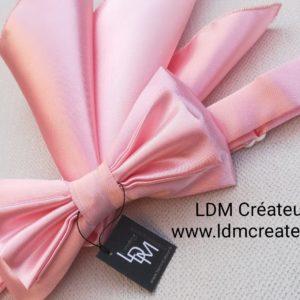 Nœud-papillon-rose-mariage-pochette-marié-ldmcreateur
