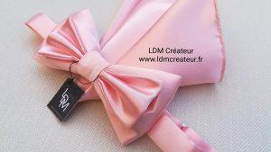 Noeud-papillon-rose-pochette-mariage-ldmcreateur