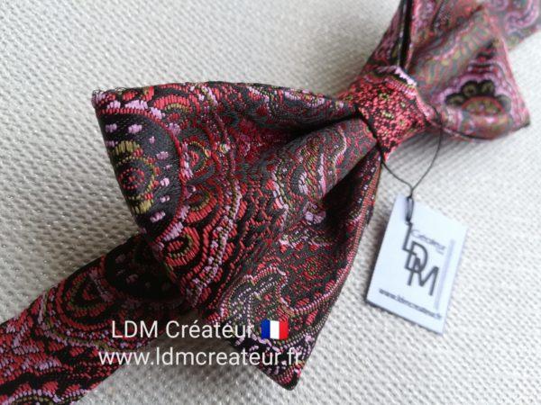 Noeud-papillon-noir-rose-cérémonie-mariage-Brive-www-ldmcreateur-fr