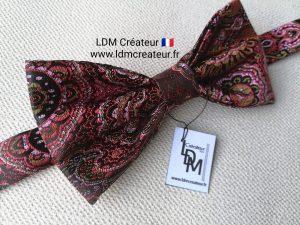 Noeud-papillon-rose-noir-mariage-soirée-Brive-www-ldmcreateur-fr