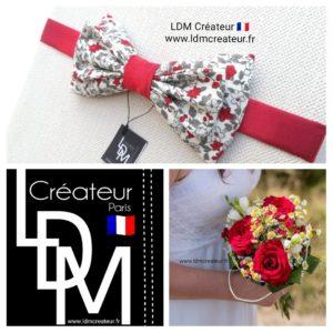 Noeud-papillon-rouge-liberty-mariage-ceremonie-ldmcreateur