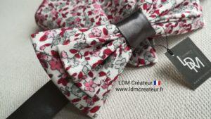 Noeud-papillon-Cahors-mariage-rose-rouge-pochette-ldmcreateur