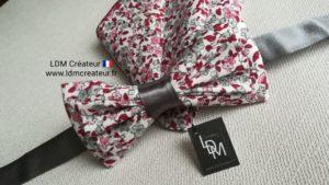 Noeud-papillon-liberty-mariage-rose-rouge-cahors-ceremonie-ldmcreateur