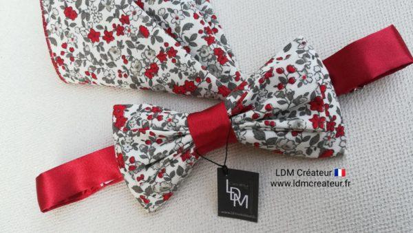Noeud-papillon-liberty-rouge-mariage-Montsoreau-ldmcreateur