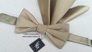 Noeud-papillon-mariage-soie-gold-taupe-Orléans-ldmcreateur