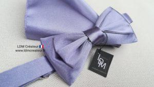 Noeud-papillon-parme-uni-pochette-mariage-elegance-Londres-ldmcreateur