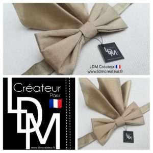 Noeud-papillon-taupe-gold-mariage-marie-Orleans-ldmcreateur