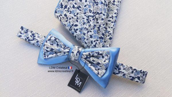noeud-papillon-liberty-bleu-boheme-champetre-Monflanquin-LDM-createur-ldmcreateur