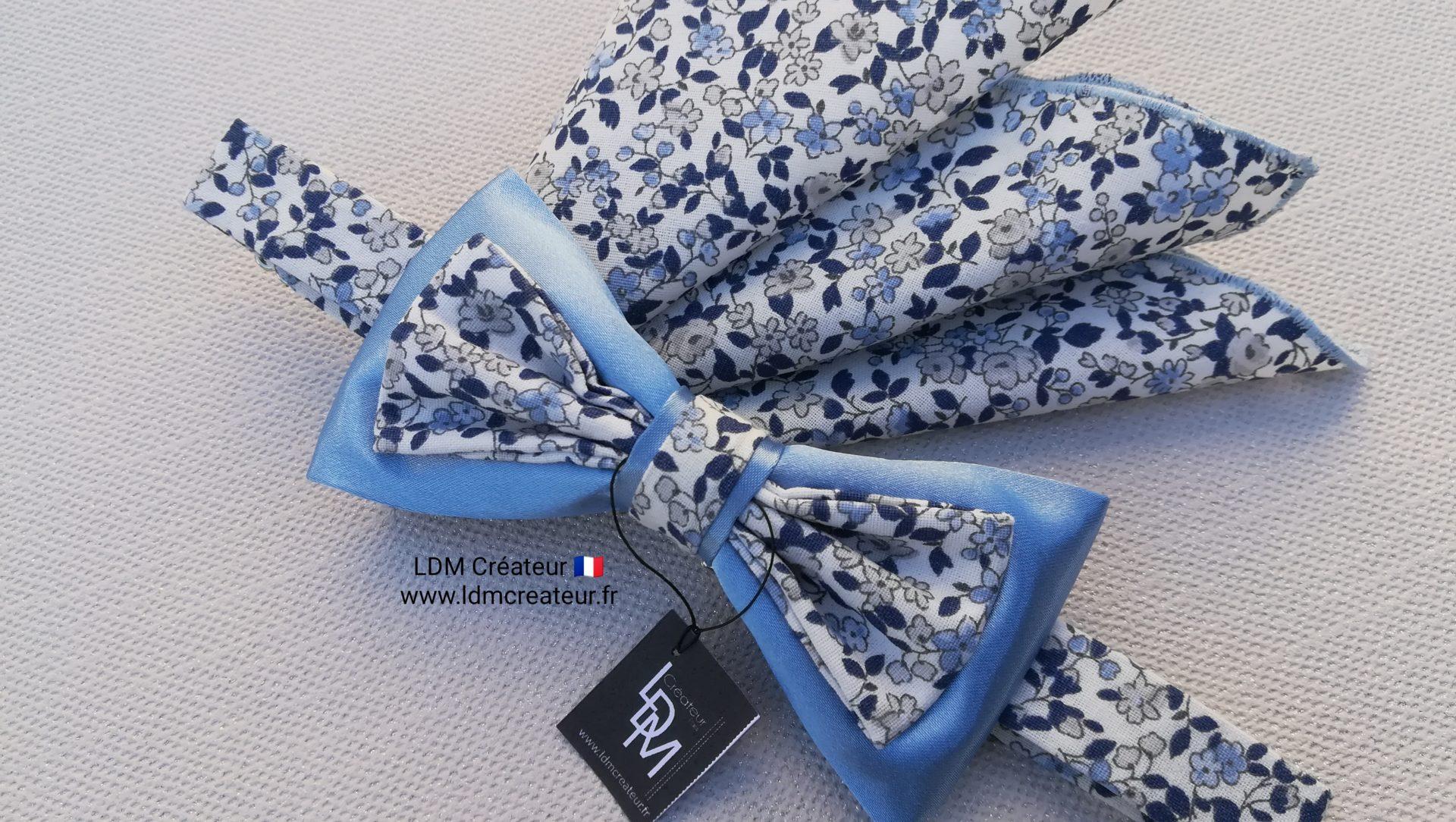 noeud-papillon-liberty-bleu-champetre-mariage-Monflanquin-LDM-createur-ldmcreateur