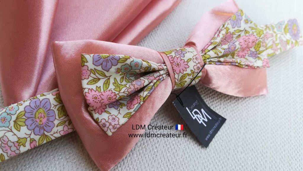 noeud-papillon-rose-liberty-mariage-champetre-Passy-ldmcreateur