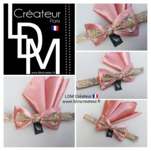 noeud-papillon-rose-liberty-mariage-champetre-pochette-Passy-ldmcreateur