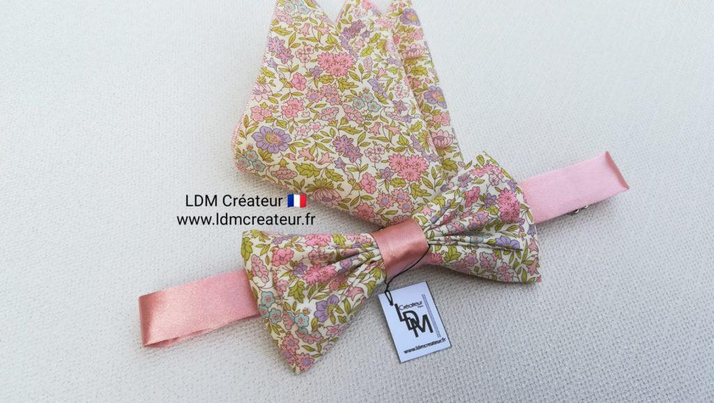 noeud-papillon-vieux-rose-liberty-anglais-mariage-champetre-Privas-ldmcreateur