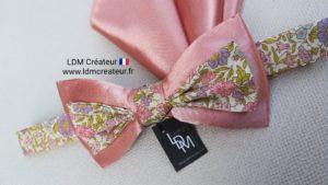 noeud-papillon-vieux-rose-liberty-champetre-mariage-Passy-ldmcreateur