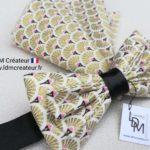 Nœud-papillon-or-rose-noir-gold-mariage-soirée-bohème-chic-Villemomble-ldmcreateur-LDM-créateur
