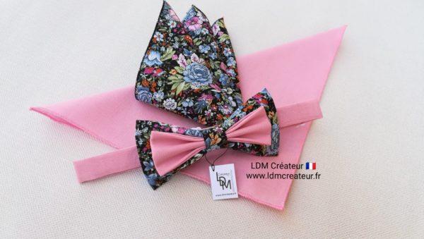 Nœud-papillon-rose-bleu-champêtre-mariage-chic-homme-marié-Brest-LDM-Createur-ldmcreateur