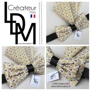 Nœud-papillon-rose-noir-doré-or-pochette-mariage-Villemomble-ldmcreateur-ldm-créateur