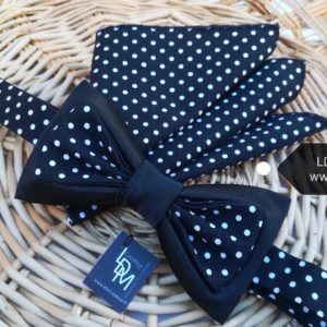 Noeud-papillon-noir-pois-mariage-soiree-homme-smoking-Madrid-ldmcreateur