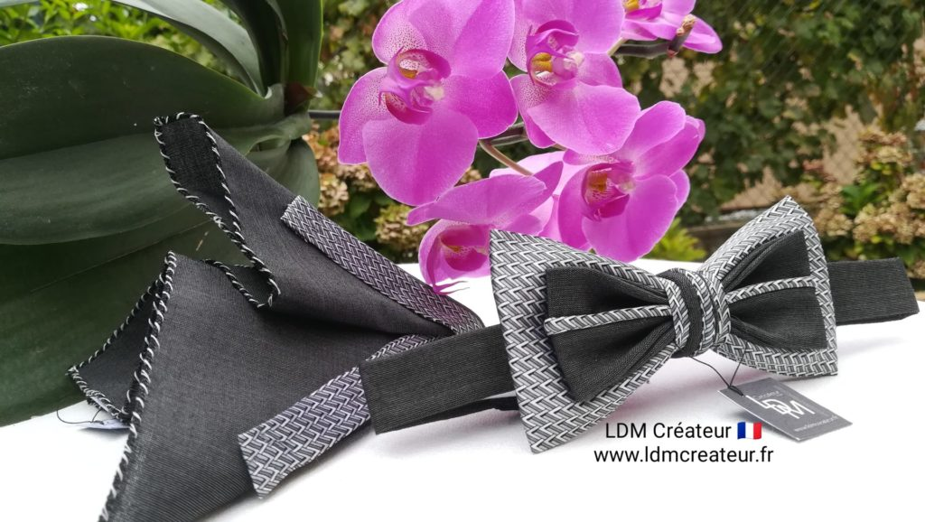 nœud-papillon-gris-blanc-noir-costume-mariage-soirée-France-Colmar-LDM-ldmcreateur