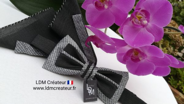 nœud-papillon-gris-original-mariage-chic-élégant-Colmar-LDM-créateur-ldmcreateur