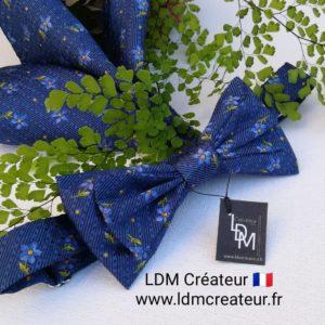 noeud-papillon-bleu-marine-jaune-soie-mariage-homme-fleuri-marie-Monarque-LDM-createur-ldmcreateur