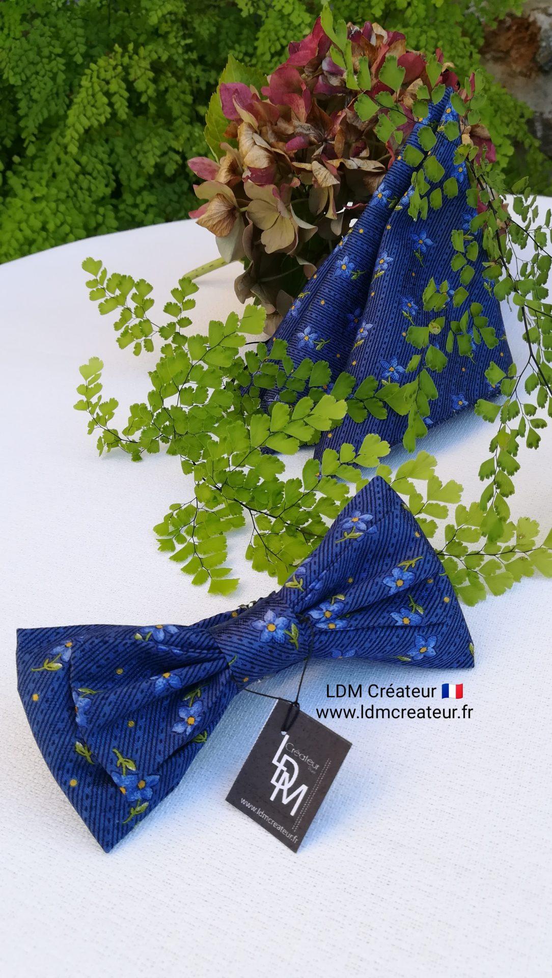 noeud-papillon-bleu-marine-electrique-original-nature-homme-mariage-Monarque-LDM-createur-ldmcreateur