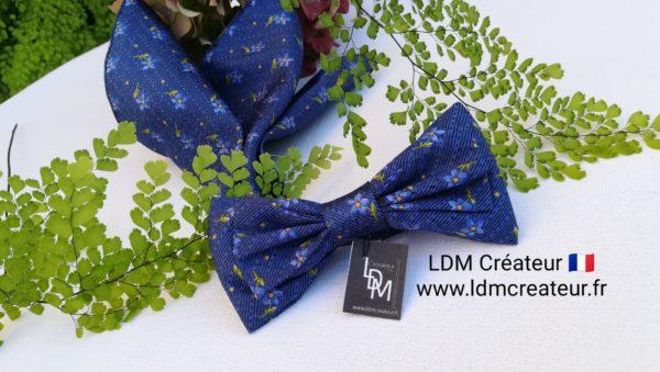 noeud-papillon-bleu-mariage-original-chic-boheme-cérémonie-homme-Monarque-LDM-createur-ldmcreateur